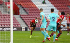 SOUTHAMPTON, ENGLAND - MAY 13: Tyreke Johnson (left) scores for Southampton FC during the U23s PL2 Play off final between Southampton and Newcastle United pictured at St. Mary's Stadium on May 13, 2019 in Southampton, England. (Photo by James Bridle - Southampton FC/Southampton FC via Getty Images)