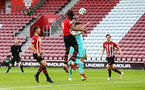 SOUTHAMPTON, ENGLAND - MAY 13: Dan Nlundulu  scores from a header during the U23s PL2 Play off final between Southampton and Newcastle United pictured at St. Mary's Stadium on May 13, 2019 in Southampton, England. (Photo by James Bridle - Southampton FC/Southampton FC via Getty Images)