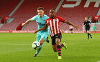 SOUTHAMPTON, ENGLAND - MAY 13: Tyreke Johnson (right) during the U23s PL2 Play off final between Southampton and Newcastle United pictured at St. Mary's Stadium on May 13, 2019 in Southampton, England. (Photo by James Bridle - Southampton FC/Southampton FC via Getty Images)