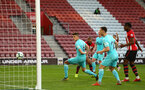 SOUTHAMPTON, ENGLAND - MAY 13: Tyreke Johnson scores for Southampton FC during the U23s PL2 Play off final between Southampton and Newcastle United pictured at St. Mary's Stadium on May 13, 2019 in Southampton, England. (Photo by James Bridle - Southampton FC/Southampton FC via Getty Images)
