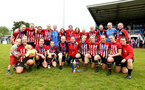 SOUTHAMPTON, ENGLAND - MAY 19: Southampton FC Women's squad after winning the Womens Cup Final match between Southampton FC and Oxford pictured at AFC Totten on May 19, 2019 in Southampton, England. (Photo by James Bridle - Southampton FC/Southampton FC via Getty Images)