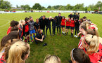 SOUTHAMPTON, ENGLAND - MAY 19: Team talk after Southampton FC win the Womens Cup Final match between Southampton FC and Oxford pictured at AFC Totten on May 19, 2019 in Southampton, England. (Photo by James Bridle - Southampton FC/Southampton FC via Getty Images)