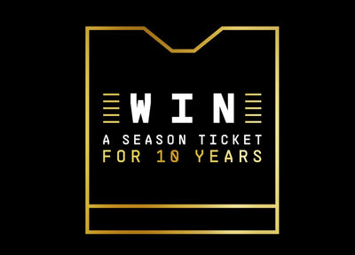 Win a Season Ticket for 10 Years
