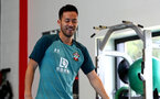 SOUTHAMPTON, ENGLAND - JULY 02: Maya Yoshida during Southampton FC's second day of pre season training at the Staplewood Campus on July 02, 2019 in Southampton, England. (Photo by Matt Watson/Southampton FC via Getty Images)
