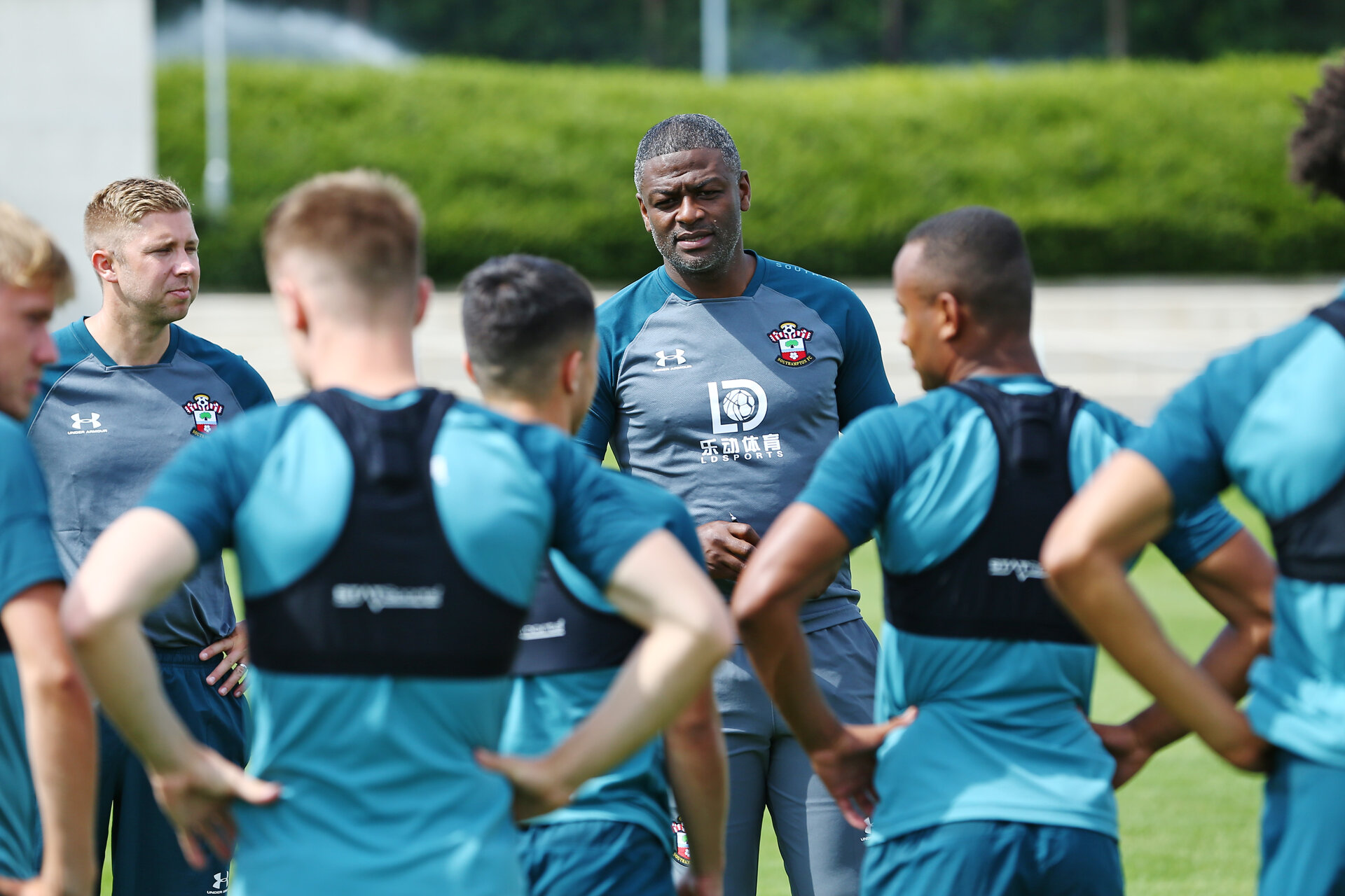 SOUTHAMPTON, ENGLAND - JULY 03:  Radhi Jaidi (middle) during an U23 Training Session pictured Staplewood Training Ground on the July 03, 2019 in Southampton, England. (Photo by James Bridle - Southampton FC/Southampton FC via Getty Images)