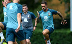 SOUTHAMPTON, ENGLAND - JULY 03: Danny Ings during a Southampton FC pre-season training session at the Staplewood Campus on July 03, 2019 in Southampton, England. (Photo by Matt Watson/Southampton FC via Getty Images)