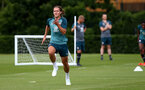 SOUTHAMPTON, ENGLAND - JULY 03: Jannik Vestergaard during a Southampton FC pre-season training session at the Staplewood Campus on July 03, 2019 in Southampton, England. (Photo by Matt Watson/Southampton FC via Getty Images)