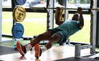 SOUTHAMPTON, ENGLAND - JULY 03: Michael Obafemi during a Southampton FC pre-season gym session at the Staplewood Campus on July 03, 2019 in Southampton, England. (Photo by Matt Watson/Southampton FC via Getty Images)
