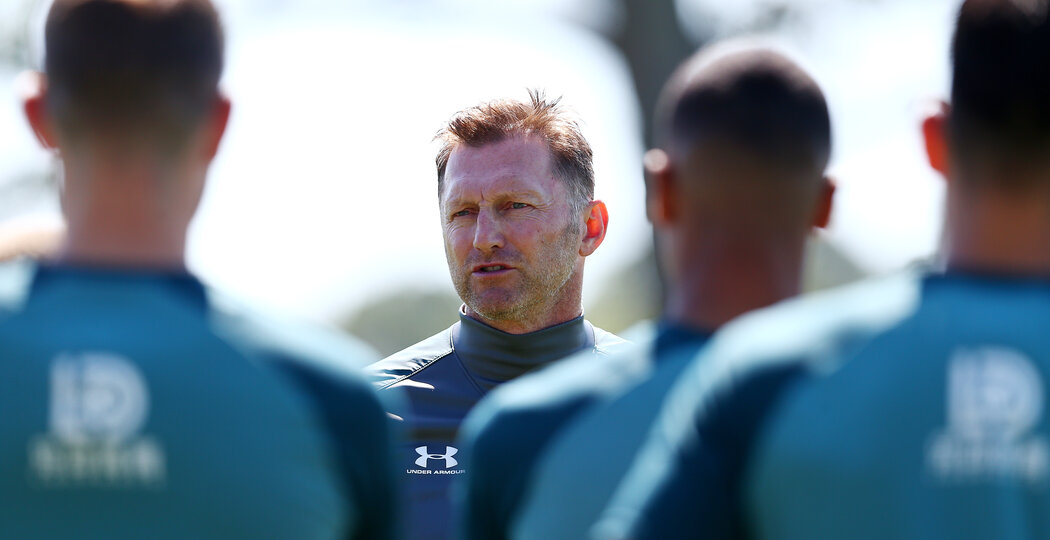 SOUTHAMPTON, ENGLAND - JULY 04: Ralph Hasenhuttl during a Southampton FC pre season training session at the Staplewood Campus on July 04, 2019 in Southampton, England. (Photo by Matt Watson/Southampton FC via Getty Images)