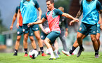 SCHRUNS, AUSTRIA - JULY 09: Cedric Soares during a Southampton FC pre-season training session, on July 09, 2019 in Schruns, Austria. (Photo by Matt Watson/Southampton FC via Getty Images)