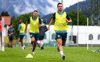 SCHRUNS, AUSTRIA - JULY 13: Cedric Soares during a Southampton FC pre season training session on July 13, 2019 in Schruns, Austria. (Photo by Matt Watson/Southampton FC via Getty Images)