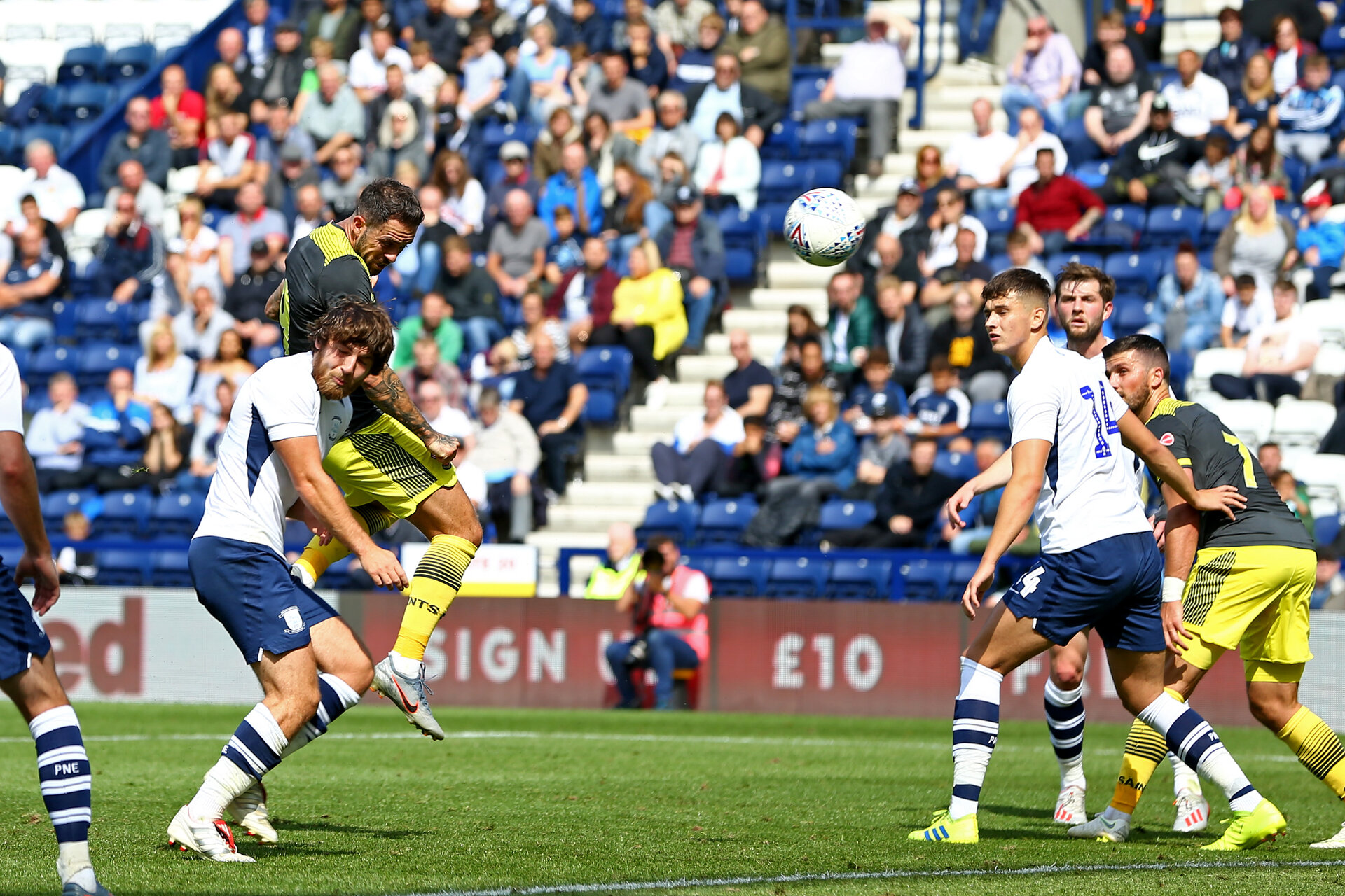 PRESTON, ENGLAND - JULY 20: during the pre-season friendly game between Preston North End and Southampton FC pictured at Deepdale on July 20, 2019 in Preston, England. (Photo by James Bridle - Southampton FC/Southampton FC via Getty Images)