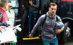 PRESTON, ENGLAND - JULY 20: Cedric Soares (right) of Southampton arrives ahead of the pre-season friendly game between Preston North End and Southampton FC pictured at Deepdale on July 20, 2019 in Preston, England. (Photo by James Bridle - Southampton FC/Southampton FC via Getty Images)