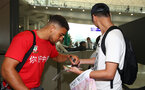 Che Adams as Southampton FC arrive at Hong Kong Airport, for their Pre Season trip to Macau, China, 22nd July 2019