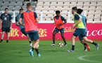 during a Southampton FC training session while on their Pre Season trip to Macau, China, 22nd July 2019