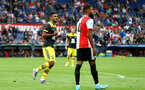 ROTTERDAM, NETHERLANDS - JULY 28: Sofiane Boufal of Southampton celebrates after scoring during the pre season friendly match between Feyenoord and Southampton FC at De Kuip on July 28, 2019 in Rotterdam, Netherlands. (Photo by Matt Watson/Southampton FC via Getty Images)