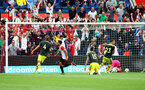 ROTTERDAM, NETHERLANDS - JULY 28: Feyenoord score during the pre season friendly match between Feyenoord and Southampton FC at De Kuip on July 28, 2019 in Rotterdam, Netherlands. (Photo by Matt Watson/Southampton FC via Getty Images)