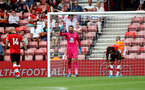 SOUTHAMPTON, ENGLAND - AUGUST 03: Angus Gunn of Southampton during the Pre-Season Friendly match between Southampton FC and FC Köln at St. Mary's Stadium on August 03, 2019 in Southampton, England. (Photo by Matt Watson/Southampton FC via Getty Images,)