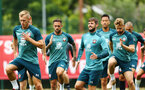 SOUTHAMPTON, ENGLAND - AUGUST 08: players warming up during a Southampton FC Training Session pictured at Staplewood Training Ground on August 08, 2019 in Southampton, England. (Photo by James Bridle - Southampton FC/Southampton FC via Getty Images)