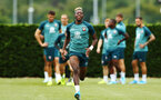 SOUTHAMPTON, ENGLAND - AUGUST 08: Moussa Djenepo during a Southampton FC Training Session pictured at Staplewood Training Ground on August 08, 2019 in Southampton, England. (Photo by James Bridle - Southampton FC/Southampton FC via Getty Images)