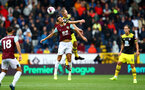BURNLEY, ENGLAND - AUGUST 10: Jack Cork(L) of Burnley and James Ward-Prowse of Southampton during the Premier League match between Burnley FC and Southampton FC at Turf Moor on August 10, 2019 in Burnley, United Kingdom. (Photo by Matt Watson/Southampton FC via Getty Images)