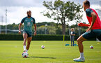 SOUTHAMPTON, ENGLAND - AUGUST 13: Nathan Redmond  during a Southampton FC training session at the Staplewood Campus on August 13, 2019 in Southampton, England. (Photo by Matt Watson/Southampton FC via Getty Images)