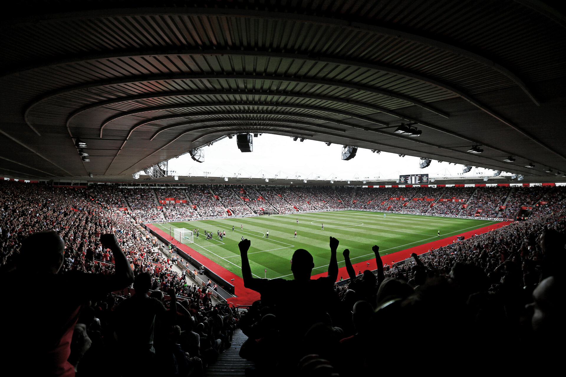 SOUTHAMPTON, ENGLAND - AUGUST 17: General View during the Premier League match between Southampton FC and Liverpool FC at St Mary's Stadium on August 17, 2019 in Southampton, United Kingdom. (Photo by James Bridle - Southampton FC/Southampton FC via Getty Images)