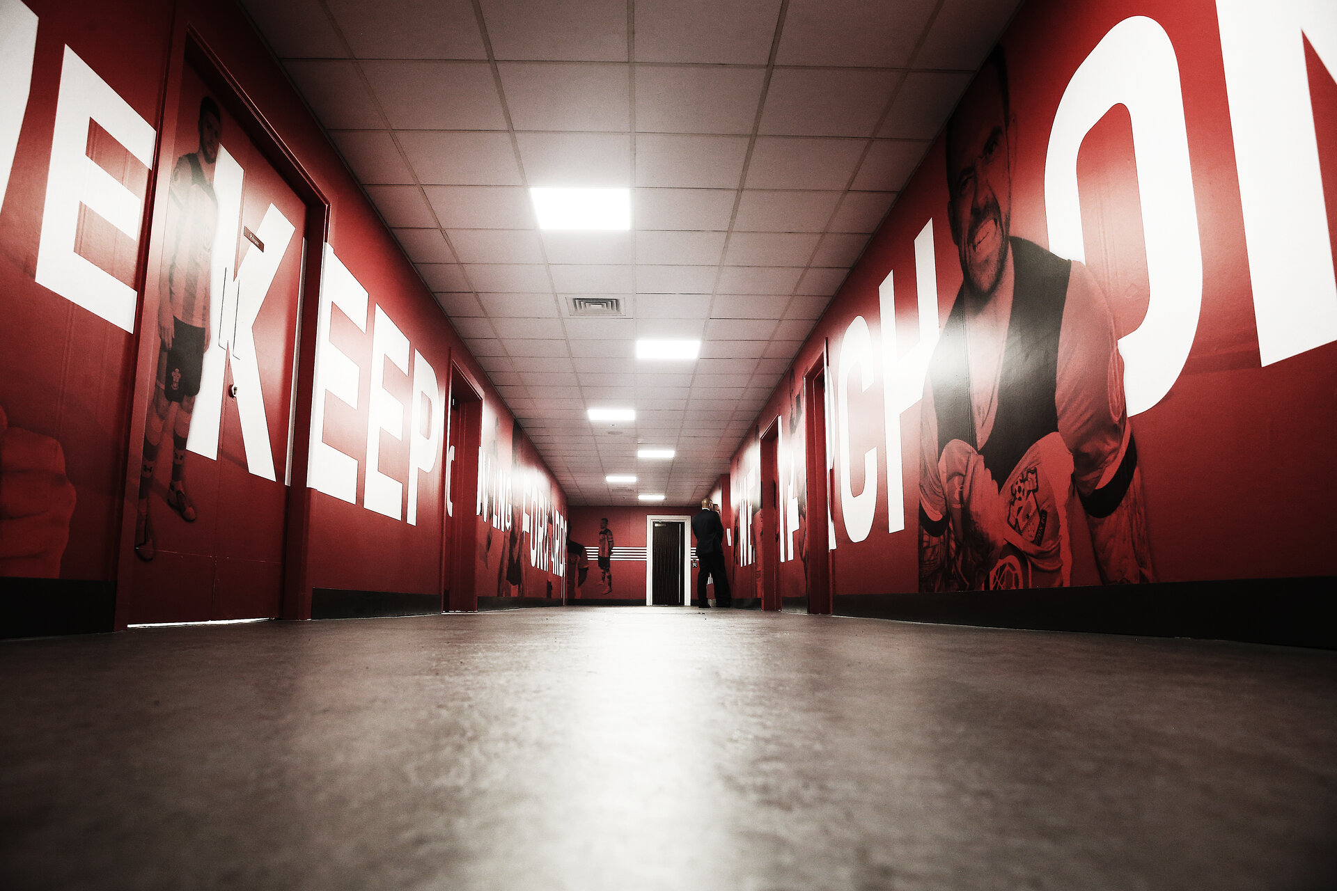 SOUTHAMPTON, ENGLAND - AUGUST 17: The Southampton FC tunnel during the Premier League match between Southampton FC and Liverpool FC at St Mary's Stadium on August 17, 2019 in Southampton, United Kingdom. (Photo by Matt Watson/Southampton FC via Getty Images)
