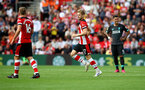 SOUTHAMPTON, ENGLAND - AUGUST 17: Stuart Armstrong of Southampton during the Premier League match between Southampton FC and Liverpool FC at St Mary's Stadium on August 17, 2019 in Southampton, United Kingdom. (Photo by Matt Watson/Southampton FC via Getty Images)