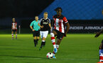 SOUTHAMPTON, ENGLAND - AUGUST 19: Dan Nlundulu  (middle)  during the match between Southampton FC and Derby County FC pictured at Staplewood Training Ground on August 19, 2019 in Southampton, England. (Photo by James Bridle - Southampton FC/Southampton FC via Getty Images)