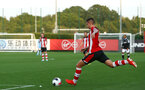 SOUTHAMPTON, ENGLAND - AUGUST 19: Will Smallbone takes a free kick during the match between Southampton FC and Derby County FC pictured at Staplewood Training Ground on August 19, 2019 in Southampton, England. (Photo by James Bridle - Southampton FC/Southampton FC via Getty Images)
