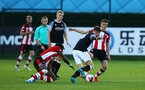 SOUTHAMPTON, ENGLAND - AUGUST 19: Will Smallbone (right) during the match between Southampton FC and Derby County FC pictured at Staplewood Training Ground on August 19, 2019 in Southampton, England. (Photo by James Bridle - Southampton FC/Southampton FC via Getty Images)