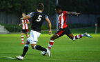 SOUTHAMPTON, ENGLAND - AUGUST 19: Dan Nlundulu  (right) during the match between Southampton FC and Derby County FC pictured at Staplewood Training Ground on August 19, 2019 in Southampton, England. (Photo by James Bridle - Southampton FC/Southampton FC via Getty Images)