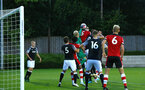 SOUTHAMPTON, ENGLAND - AUGUST 19: Southampton FC corner reaches Aaron O'Driscol during the match between Southampton FC and Derby County FC pictured at Staplewood Training Ground on August 19, 2019 in Southampton, England. (Photo by James Bridle - Southampton FC/Southampton FC via Getty Images)