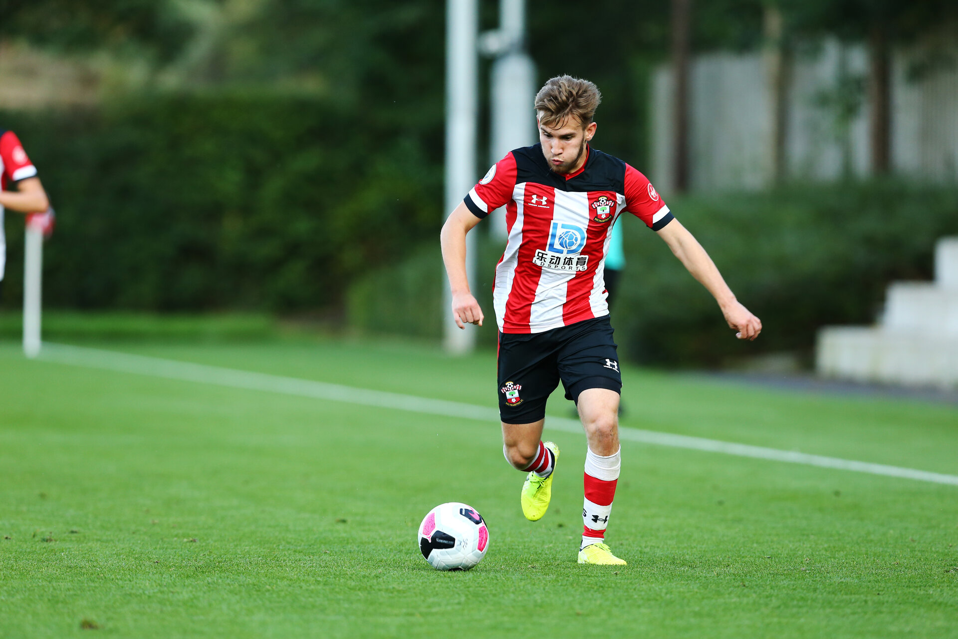 SOUTHAMPTON, ENGLAND - AUGUST 19: Jake Vokins  during the match between Southampton FC and Derby County FC pictured at Staplewood Training Ground on August 19, 2019 in Southampton, England. (Photo by James Bridle - Southampton FC/Southampton FC via Getty Images)