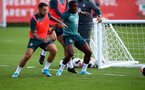 SOUTHAMPTON, ENGLAND - AUGUST 20: Danny Ings(L) and Michael Obafemi during a Southampton FC training session at the Staplewood Campus on August 20, 2019 in Southampton, England. (Photo by Matt Watson/Southampton FC via Getty Images)