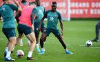 SOUTHAMPTON, ENGLAND - AUGUST 20: Moussa Djenepo during a Southampton FC training session at the Staplewood Campus on August 20, 2019 in Southampton, England. (Photo by Matt Watson/Southampton FC via Getty Images)