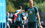 SOUTHAMPTON, ENGLAND - AUGUST 22: Stuart Armstrong during a Southampton FC training session at the Staplewood Campus on August 22, 2019 in Southampton, England. (Photo by Matt Watson/Southampton FC via Getty Images)