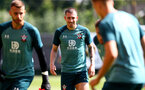 SOUTHAMPTON, ENGLAND - AUGUST 22: Pierre-Emile Hojbjerg during a Southampton FC training session at the Staplewood Campus on August 22, 2019 in Southampton, England. (Photo by Matt Watson/Southampton FC via Getty Images)