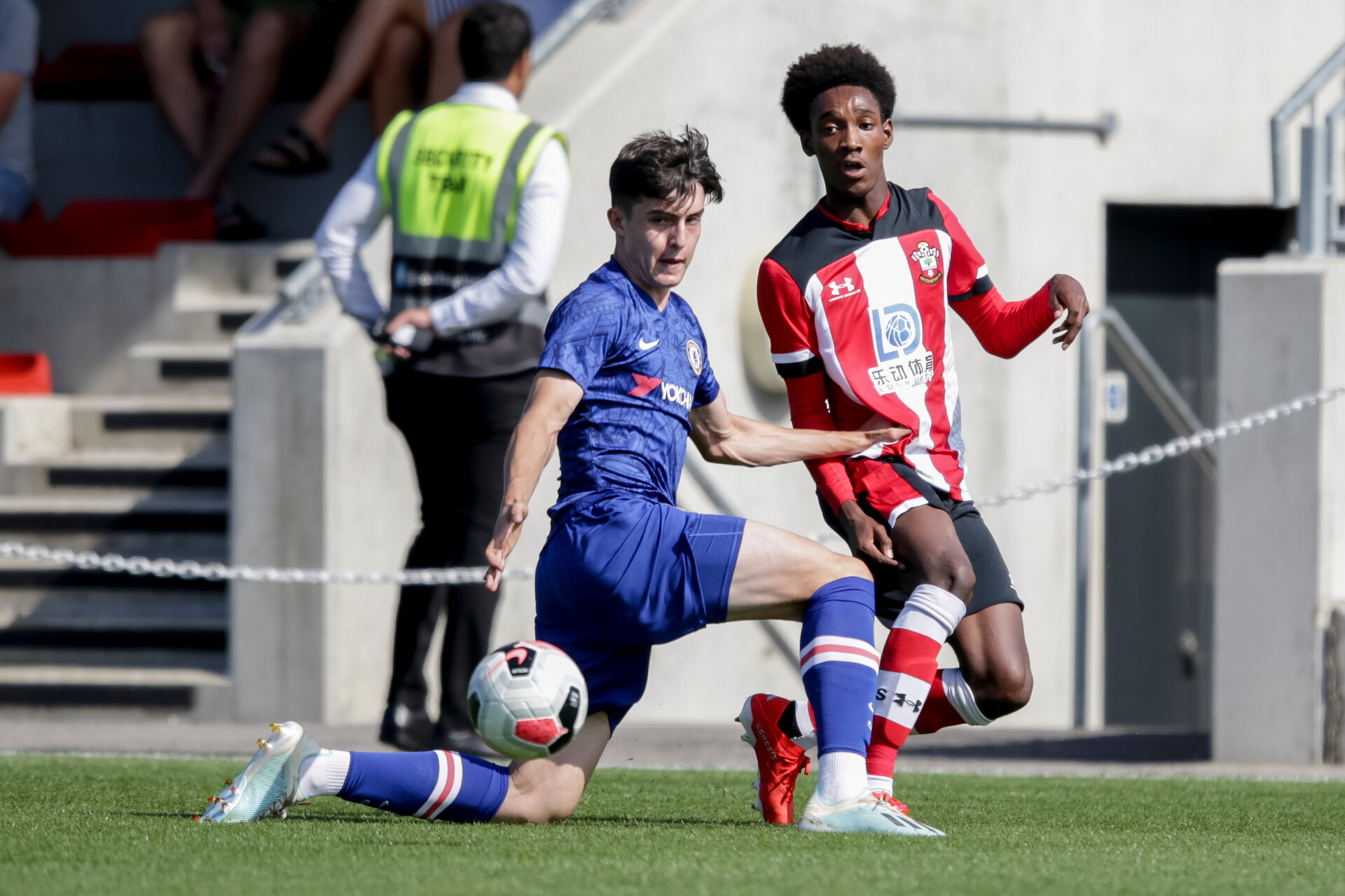 during the Premier League U18 match between Southampton and Chelsea at Staplewood, Marchwood, England on 24 August 2019. Photo by Robin Jones.
