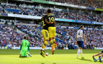 BRIGHTON, ENGLAND - AUGUST 24: Nathan Redmond(L) and Sofiane Boufal of Southampton celebrate during the Premier League match between Brighton & Hove Albion and Southampton FC at American Express Community Stadium on August 24, 2019 in Brighton, United Kingdom. (Photo by Matt Watson/Southampton FC via Getty Images)