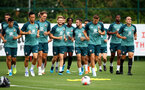 SOUTHAMPTON, ENGLAND - AUGUST 29: Players warm up during a Southampton FC training session at the Staplewood Campus on August 29, 2019 in Southampton, England. (Photo by Matt Watson/Southampton FC via Getty Images)