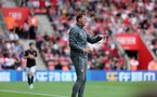 SOUTHAMPTON, ENGLAND - AUGUST 31: Ralph Hasenhüttl during the Premier League match between Southampton FC and Manchester United at St Mary's Stadium on August 31, 2019 in Southampton, United Kingdom. (Photo by Chris Moorhouse/Southampton FC via Getty Images)