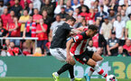 SOUTHAMPTON, ENGLAND - AUGUST 31: Che Adams during the Premier League match between Southampton FC and Manchester United at St Mary's Stadium on August 31, 2019 in Southampton, United Kingdom. (Photo by Chris Moorhouse/Southampton FC via Getty Images)