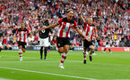 SOUTHAMPTON, ENGLAND - AUGUST 31: Jannik Vestergaard of Southampton celebrates after making it 1-1 during the Premier League match between Southampton FC and Manchester United at St Mary's Stadium on August 31, 2019 in Southampton, United Kingdom. (Photo by Matt Watson/Southampton FC via Getty Images)