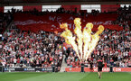 SOUTHAMPTON, ENGLAND - AUGUST 31: Flames during the Premier League match between Southampton FC and Manchester United at St Mary's Stadium on August 31, 2019 in Southampton, United Kingdom. (Photo by Matt Watson/Southampton FC via Getty Images)