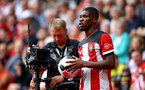 SOUTHAMPTON, ENGLAND - AUGUST 31: Kevin Danso of Southampton in front of tv cameras during the Premier League match between Southampton FC and Manchester United at St Mary's Stadium on August 31, 2019 in Southampton, United Kingdom. (Photo by Matt Watson/Southampton FC via Getty Images)