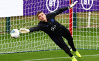 SOUTHAMPTON, ENGLAND - SEPTEMBER 09: Nick Pope of England takes part during an England training session at St. Mary's Stadium on September 09, 2019 in Southampton, England. (Photo by Julian Finney/Getty Images)
