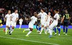 SOUTHAMPTON, ENGLAND - SEPTEMBER 10: Raheem Sterling(7) celebrates during the UEFA Euro 2020 qualifier match between England and Kosovo at St. Mary's Stadium on September 10, 2019 in Southampton, England. (Photo by Matt Watson/Southampton FC via Getty Images)