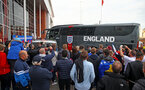 SOUTHAMPTON, ENGLAND - SEPTEMBER 10: The Engalnd team coach arrives ahead of the UEFA Euro 2020 qualifier match between England and Kosovo at St. Mary's Stadium on September 10, 2019 in Southampton, England. (Photo by Matt Watson/Southampton FC via Getty Images)